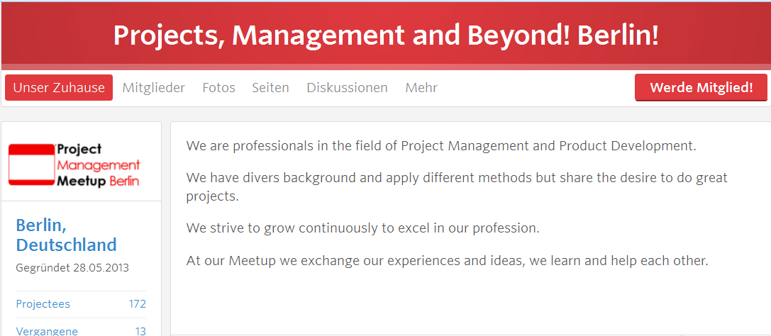 Project Management Meetup Berlin