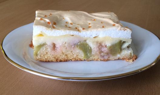 Projektwerkstatt Annette Berger Privat Rhabarber Baiser Kuchen Goldtröpfchen